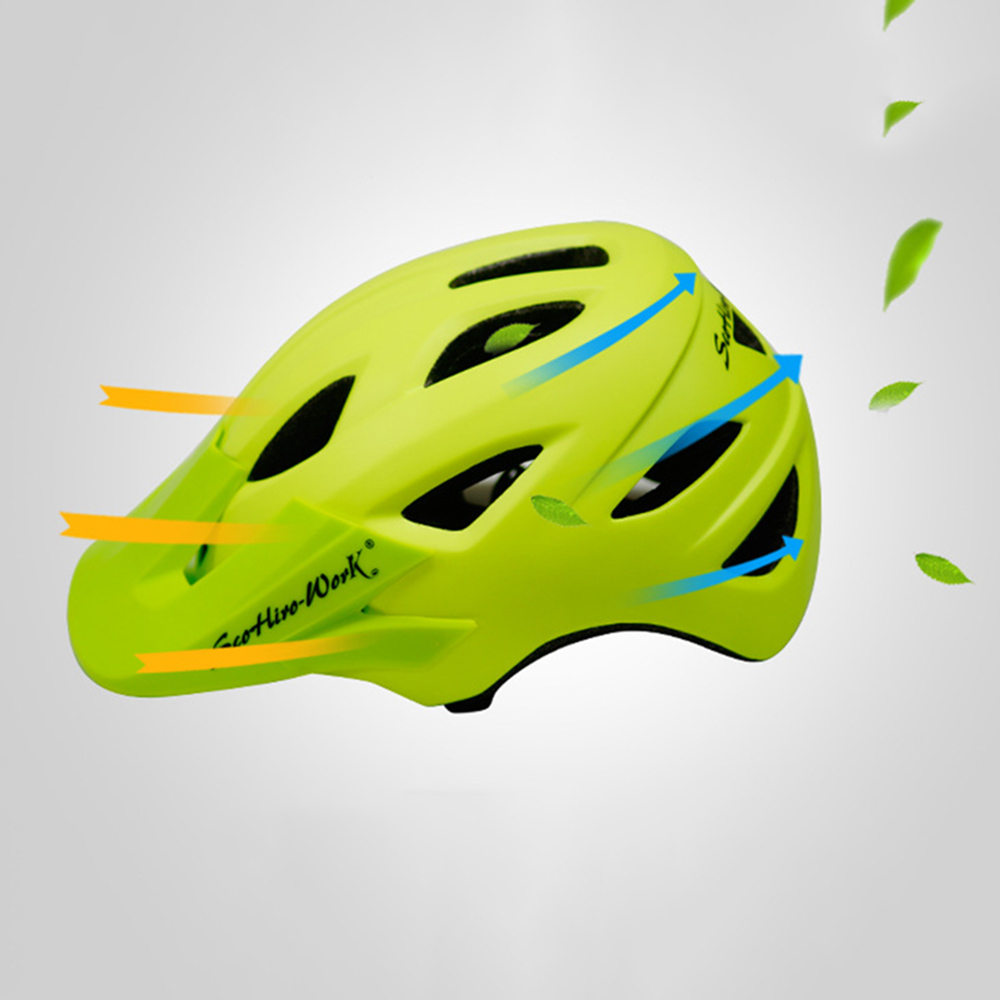 Cycling Helmet With Visor Ultralight MTB Road Bike EPS Helmets Mountain Bicycle Safety Integrally-mold Head Cover Casco BC0081 (3)