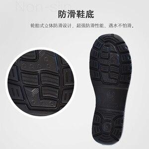 Image 5 - Męskie krótkie podkolanówki o niskim kroju Super lekkie buty kelnerskie EAV buty szefa kuchni hotelowa restauracja kuchnia wodoodporne obuwie robocze
