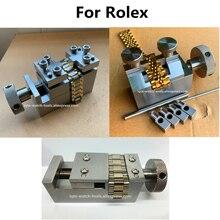 Narzędzie do naprawy zegarków stalowy pasek demontaż i montaż zegarek ze stali nierdzewnej zespół metalowy demontaż i narzędzie do instalacji do zegarka Rlx