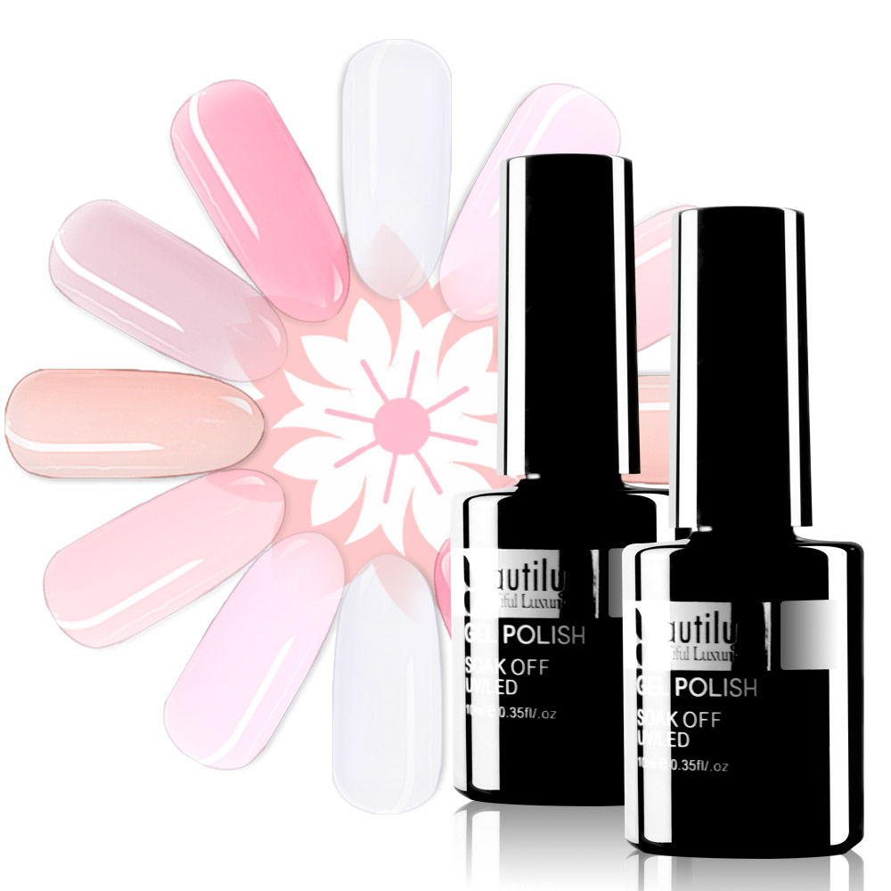 Beautilux Camouflage Rubber Base Coat Gel Milky White Nude Pink Beige Gels Nail Polish Semi Permanent Nails Ridge Filler 10ml