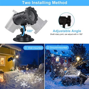 Image 3 - 방수 이동 눈송이 레이저 프로젝터 라이트 크리스마스 새해 led 무대 조명 야외 스노우 파티 정원 조경 램프