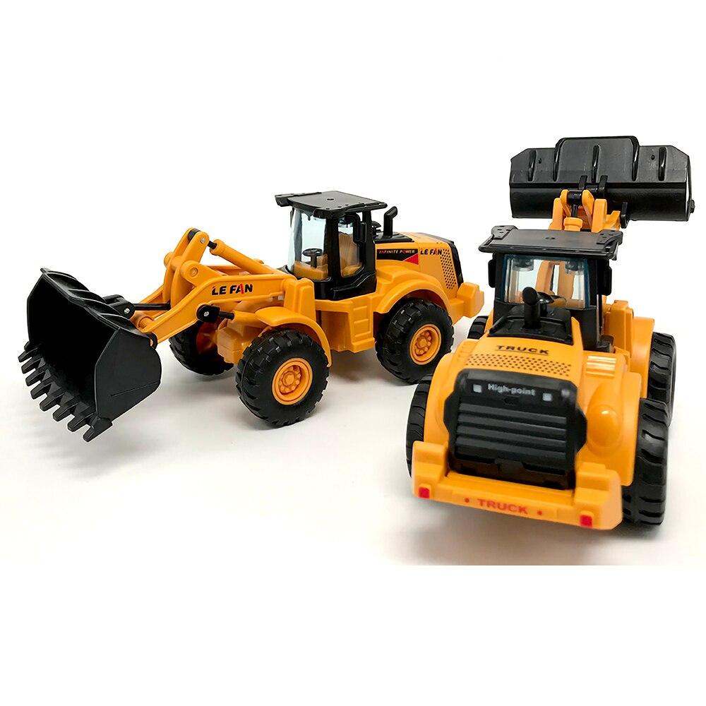 1:32 Inertia Vehicle Multifunctional Engineering Vehicle Children Excavator Bulldozer Model Car Boy Girl Toy