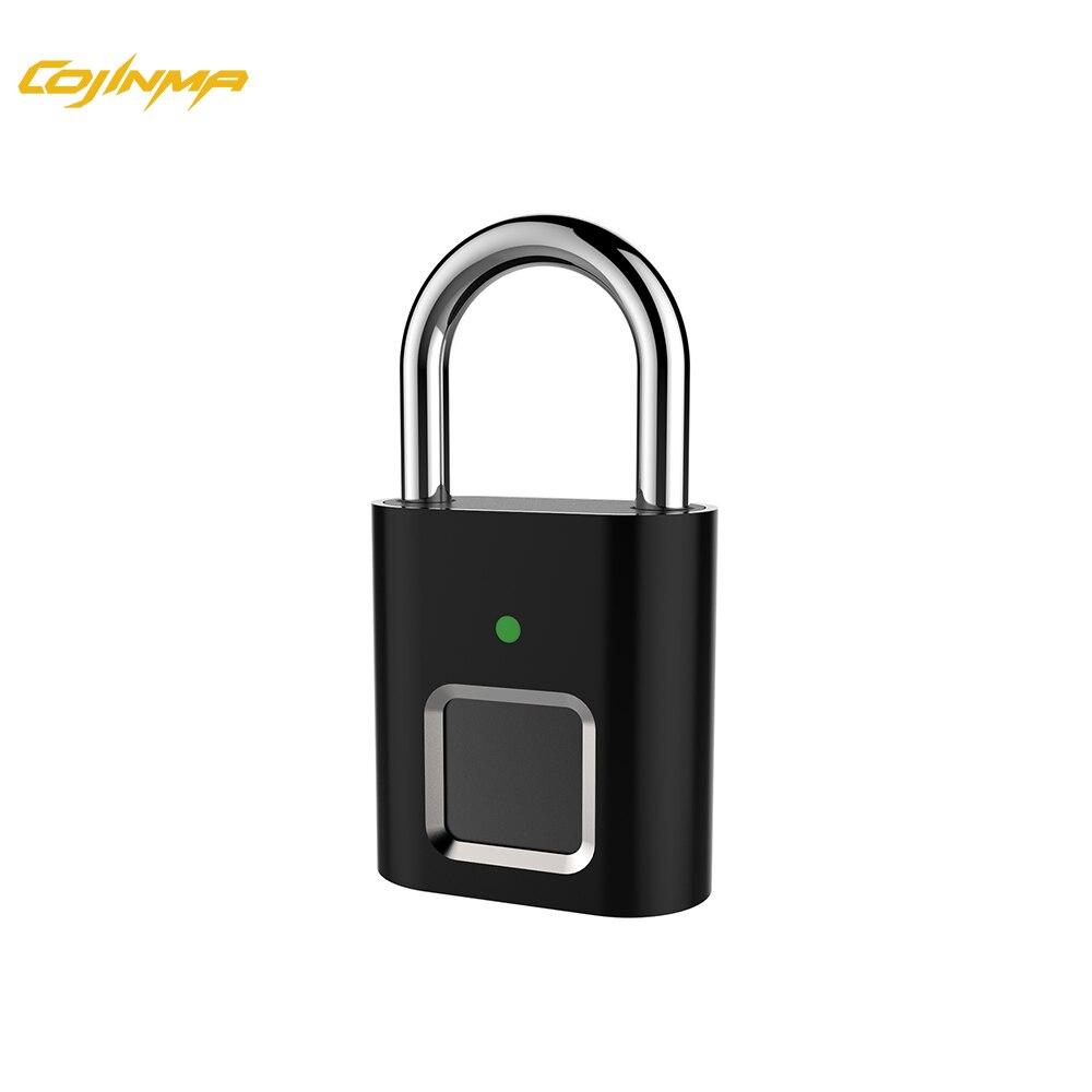 COJINMA Сейф Candado huella умный отпечаток пальца выдвижной замок Перезаряжаемый USB 360 градусов распознавание до 20 пользователей