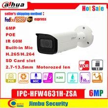 Сетевой видеорегистратор Dahua IP Камера 6MP IPC HFW4631H ZSA 2,7 ~ 13,5 мм IR60m Обновление версии IPC HFW5431R Z со встроенным микрофоном слот для карты SD PoE