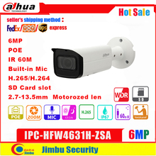 Dahua IP Camera 6MP IPC HFW4631H ZSA 2.7~13.5mm IR60m  Upgrade version of IPC HFW5431R Z with Build in Mic SD Card slot PoE
