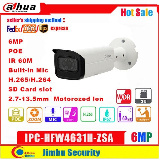 Dahua IP Camera 6MP IPC HFW4631H ZSA 2.7~13.5mm IR60m  Upgrade version of IPC HFW5431R Z with Build in Mic SD Card slot PoE