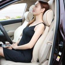 Universal carro pescoço travesseiro encosto de cabeça apoio viagem massagem almofada capa de tecido assento cadeira espuma memória cabeça macia