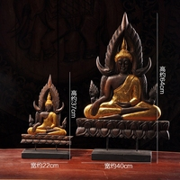 Wood Handicraft Household Appliances Solid Wood Carving Religious Buddha Statues home decoration accessories modern