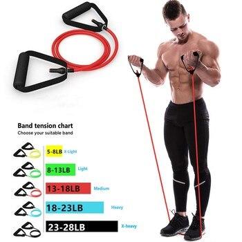 5 уровней Эспандеры с ручками эластичная веревка для йоги эластичный Фитнес Упражнение трубки Band для домашние тренировки для силовой тренировки