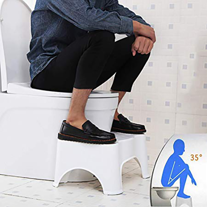 Non-slip U-shaped squat toilet stool antiskid cushion
