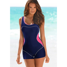 2017 Professional One Piece Swimsuit Sports Swimwear Women Backless Bodysuit Female Solid Bathing Suits Retro Shorts Plus Sizeswimsuit professionalshorts plusshorts shorts