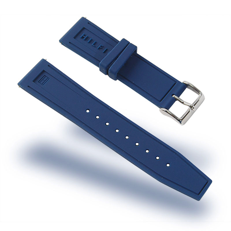 Navy Blue Quick Release Watch Bands  22mm Soft Silicone Replacement Watch Straps