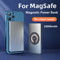 For Magsafe Magnetic Power Bank10000mAh Metallic Material Wireless Powerbank External Battery Portable Charger Auxiliary Battery