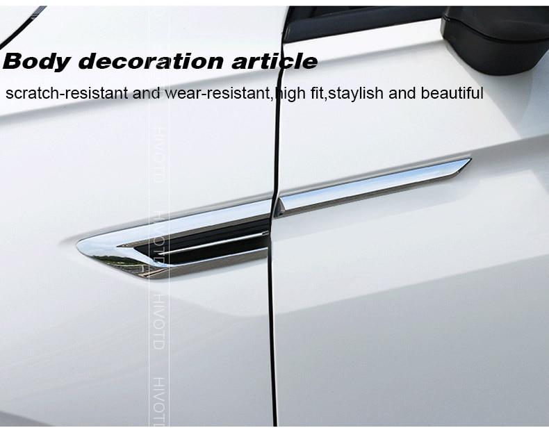 BTSDLXX Car Porta Laterale Wing Fender Emblema Distintivo Etichetta Trim per Volkswagen VW Tiguan MK2 2016 2017 2018 Door Side Badge Sticker Styling Accessories