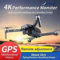 Drone JJRC X19 GPS con motore Brushless 5G WiFi FPV 4K videocamera HD doppio posizionamento di ritorno GPS pieghevole RC Drone Quadcopter giocattolo RTF