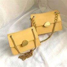 купить Fashion Chain Small Flap Bags Women Crossbody Bags Chic Buckle Messenger Bag Purses Ladies Casual Pu Leather Shoulder Bags по цене 1328.03 рублей