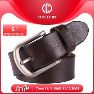 Image 1 - 2017 Mới, thắt lưng nam da bò đầu Full hạt thật 100% chính hãng da bò da quần jean mềm dây TM050