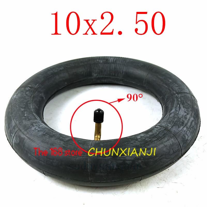 10 Polegada pneu interno 10x2.50 tubo interno com válvula dobrada para scooter elétrico balanceamento hoverboard auto equilíbrio inteligente
