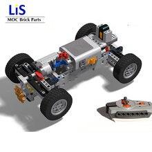 Nova alta-tecnologia 4wd fora de estrada sistema de suspensão dianteira moc blocos de construção tijolos peças kits rc modelo de carros para crianças meninos diy brinquedos
