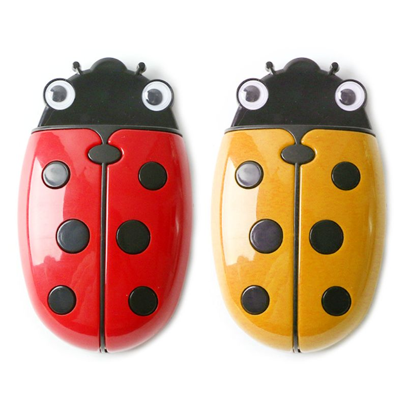 Cute Ladybug Fridge Magnetic Storage Box Eraser Whiteboard Pen Organizer Holder DXAB