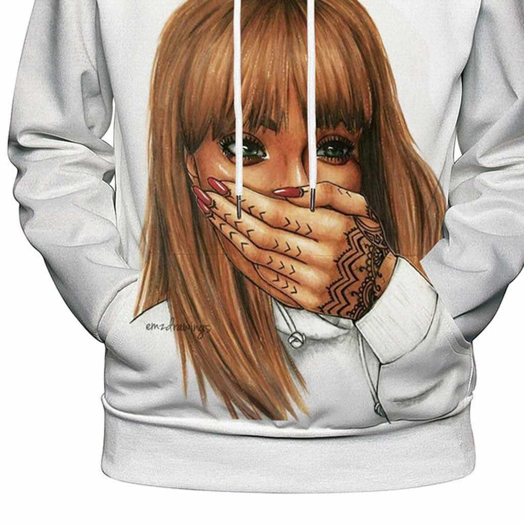 女の子プリントパーカーメンズパーカートレーナー男性のジャケット品質プルオーバーファッションスポーツウェアストリートジャケット Мужской Свитер