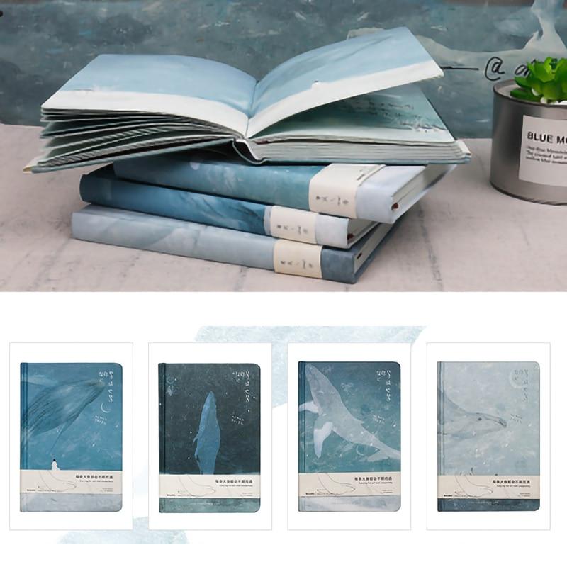 Кит иллюстрации блокнот-скетчбук дневник рисунок 112 листов с милыми китами, Тетрадь Бумага, офисные школьные принадлежности, блокноты в под...
