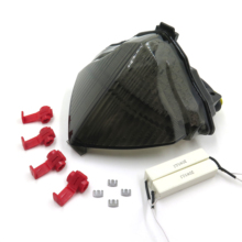 цена на Aftermarket free shipping motorcycle parts LED Tail Brake Light turn signals for Yamaha YZF R1 YZF-R1 2004 2005 2006 Smoke