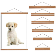 Hanging-Frames Magnetic-Poster-Hanger Teak Photo-Picture Wooden Print Artwork Wall-Art