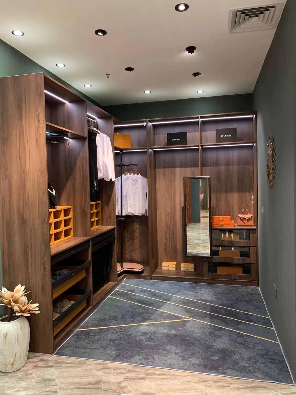 wood walking closet dressing room living room wardrobe ...