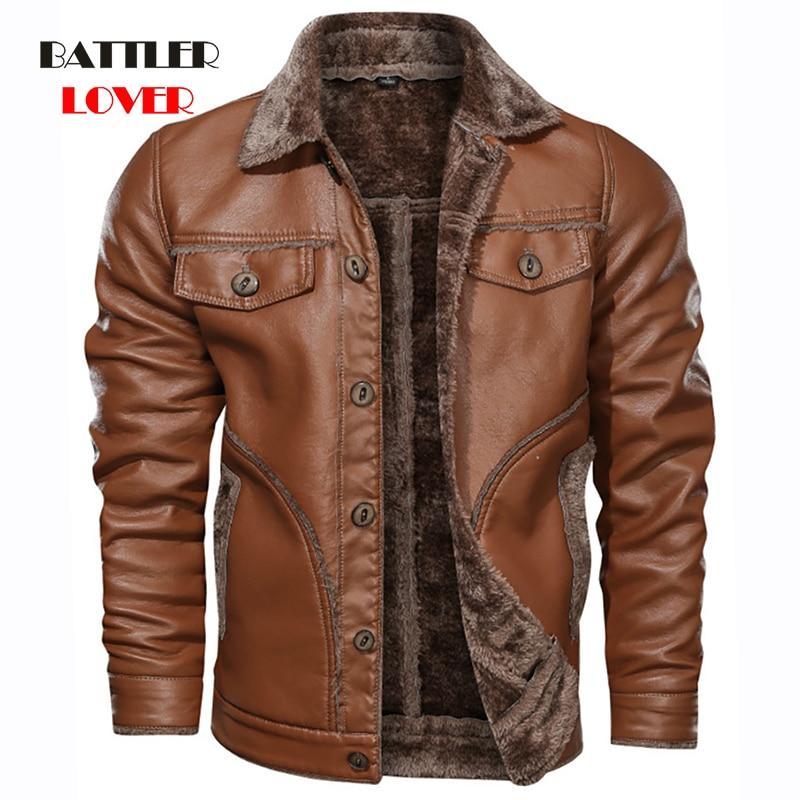 Big Size M-8XL Men's Real Leather Jacket Men Motorcycle Coats Man Windbreak Winter Coat Men Fleece Warm Genuine Leather Jackets