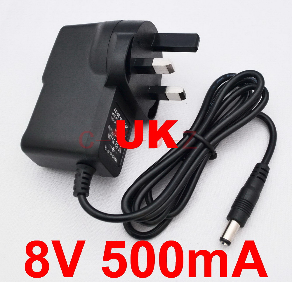 AC Converter Adapter DC 7.5V 500mA Power Supply Charger US plug 5.5 x 2.1mm 0.5A