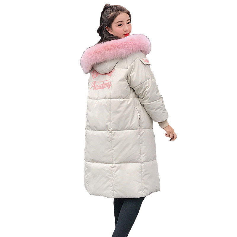 Fur Collar Hooded Winter Down Coat Jacket Thick Warm Long Casaco Feminino Abrigos Mujer Invierno Cotton Padded Wadded Parkas 07