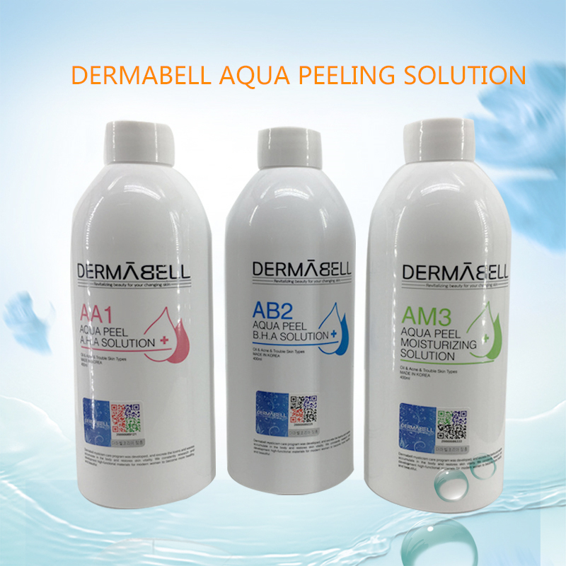 Three Bottles Aqua Peeling Solution AA1 AB2 AM3 400ml Per Bottle Aqua Facial Serum Hydra Facial Serum For Normal Skin Use