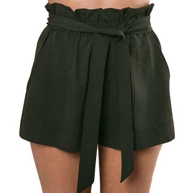 Summer Sexy High Waist Shorts Women Casual Solid Bow Short Beach Black White Shorts Trousers Mujer Feminino 4