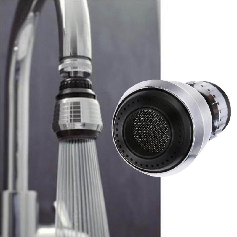 360 Rotatable Bent Kitchen Faucet Bubbler Water Saving Bathroom Shower Swivel Head Filter Nozzle Filter Mesh Adapter Bubbler