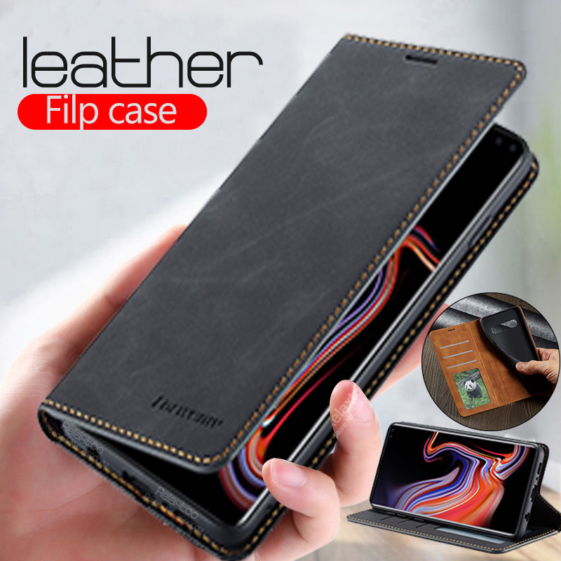 Leather Flip wallet <font><b>Case</b></font> For <font><b>samsung</b></font> Galaxy note10 plus s10 s9 s 8 9 a51 a71 <font><b>a10</b></font> a20 a30 a40 a50 a70 a30s book Cover Coque funda image