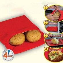 1 шт. красный моющийся мешок для запекания микроволновая печь выпечки пакет для запекания картофеля кармашек для риса кухонные инструменты легко кухонная готовка гаджеты инструмент для выпечки