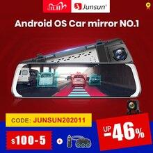 """Junsun A930 ADAS 4G 10 """"IPS רכב DVR מצלמה מראה דאש מצלמת וידאו מקליט מלא HD 1920x1080 מראה אחורית אנדרואיד OS WiFi GPS"""