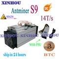 Используется ASIC miner AntMiner S9 14T SHA256 с PSU Btc BCH Шахтер экономичный  чем Antminer S9k T17e T17 S17 S17e WhatsMiner M3 M20S
