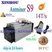Verwendet ASIC miner AntMiner S9 14T SHA256 Mit NETZTEIL Btc BCH Miner wirtschaftlich als Antminer S9k T17e T17 S17 s17e WhatsMiner M3 M20S-in Netzwerkschalter aus Computer und Büro bei