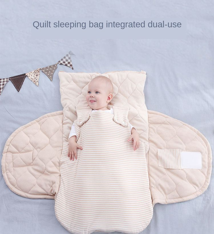 Baby Quilt Sleeping Bag Autumn And Winter Thickening Newborn Baby Newborn Out Supplies Anti-kick Blanket Blanket