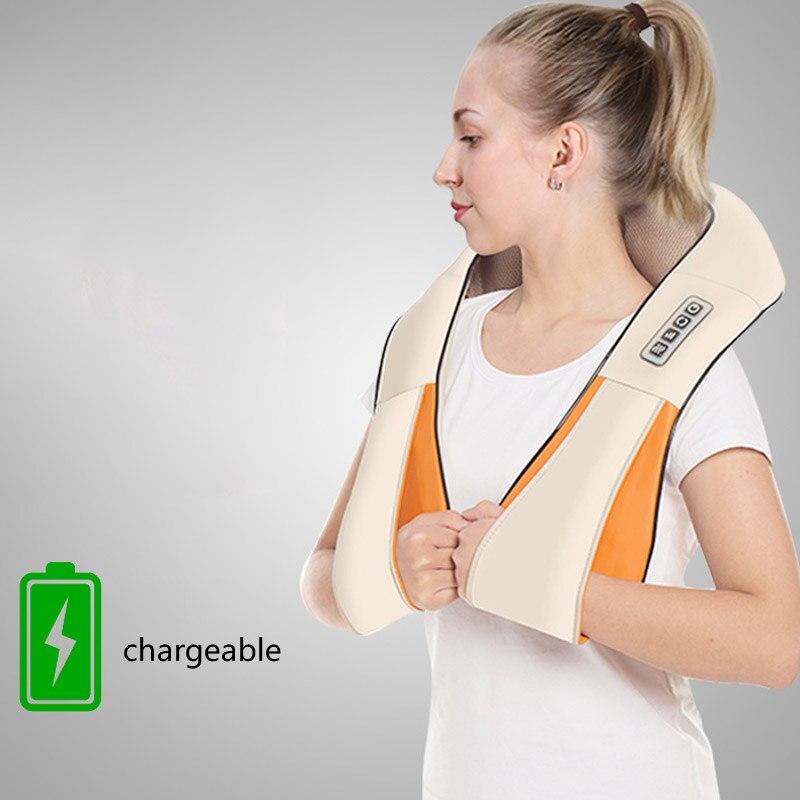 متعددة الوظائف قابلة للشحن تدليك شال العجن حزمة ساخنة تدليك الجسم مدلك السلامة الحد من الضوضاء جهاز الرعاية الصحية