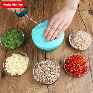 Manual Food Chopper Pull String Vegetable Chopper Fruits Nuts Onions Chopper Hand Pull Mincer Blender Mixer Food Processor