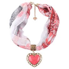 Free Ostrich Clothes Designer spring Women Boho Beach Shawl Heart love national style Casual Wrap Soft Necklace Scarf chiffon(China)