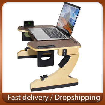 Adjustable Bed Laptop Foldable Folding Notebook Stand Aluminum Alloy Desk Computer Stand Ergonomic Lapdesk Bed And Bath Table