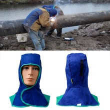 Cover Welder Helmet Hood Face-Protection Blue Comfort 410mm Head-Cap Flame-Retardant