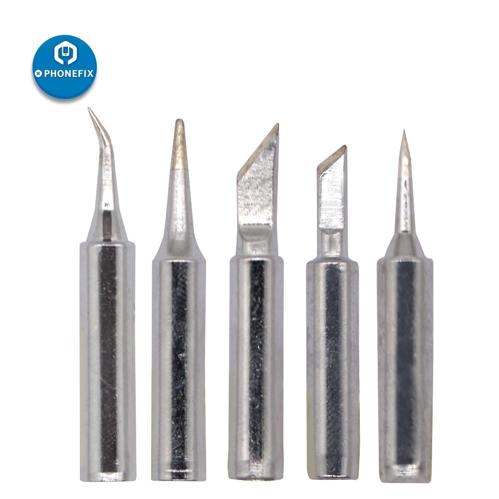 PHONEFIX 5pcs 900M Soldering Tips Metal Solder Screwdriver Iron Tip For Hakko Welding Rework Tool