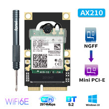 M.2 a mini pci-e adaptador wi-fi intel ax210ngw 9260 ax200 sem fio bluetooth wifi cartão WI-FI6E ax210 802.11ax 160mhz 2.4g/5g/6g