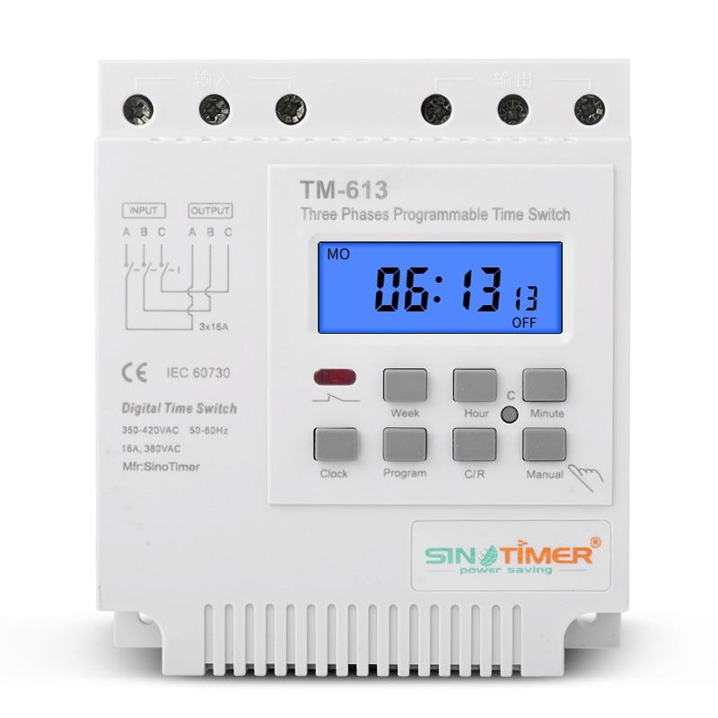 TM613 380V 16A kolmefaasiline digitaalne 7 päeva programmeeritav - Mõõtevahendid - Foto 3