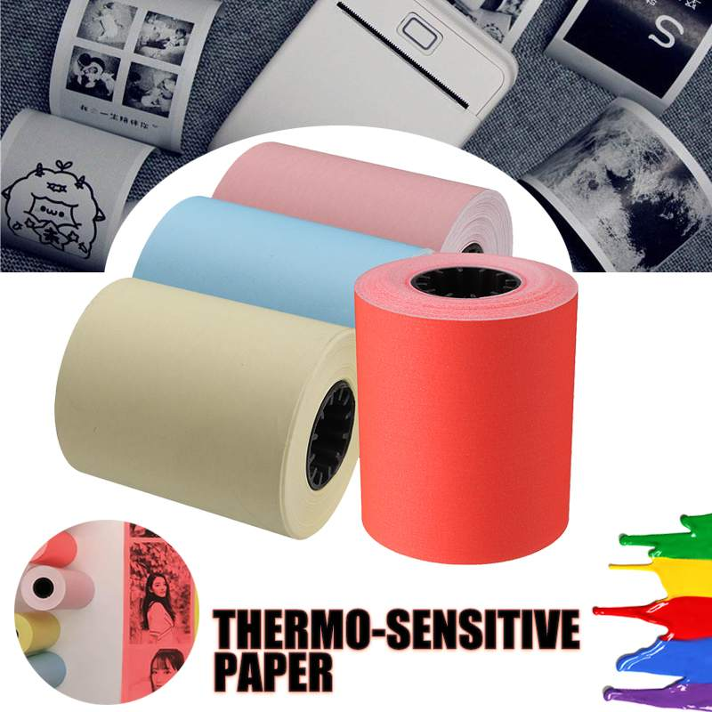 Thermal Printing Paper 57x50mm For Memobird Photo Printer Bill Receipt Paper For Thermosensitive Printer Red/Pink/Yellow/Blue(China)